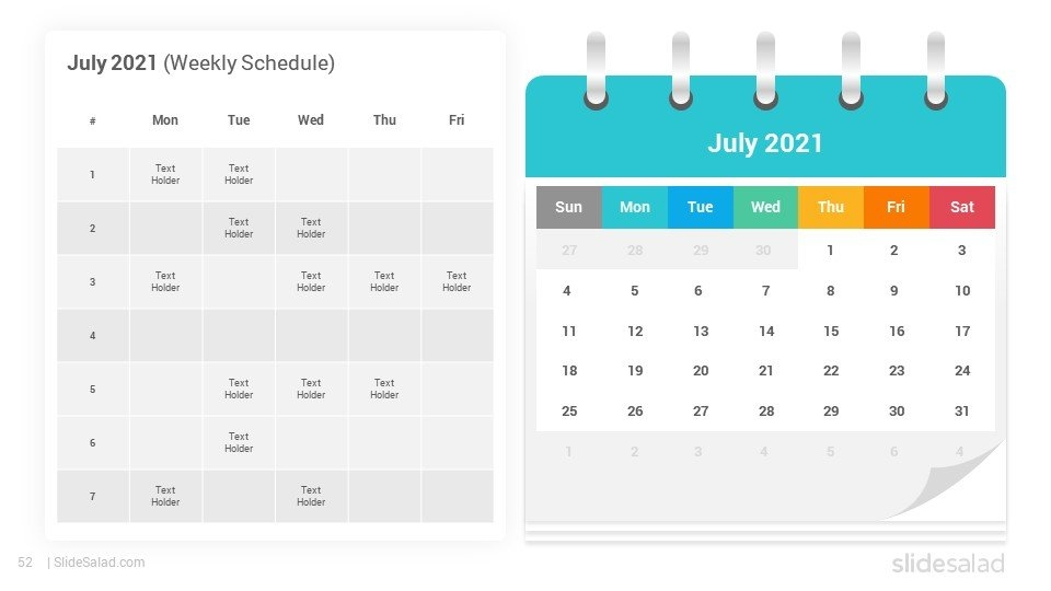 2021 Calendar Google Slides Template Designs - Slidesalad inside Google 2021 Calendar Printable Image