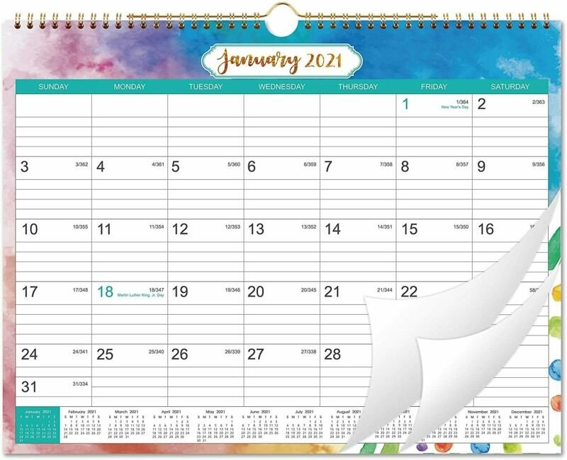 2021 Calendar - Month Wall With Julian Date, Large, Multicolored | Ebay with regard to Julian Calendar For 2021 Graphics