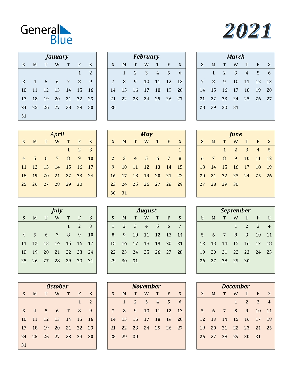 2021 Calendar (Pdf, Word, Excel) regarding Free 2021 Calendar Excel