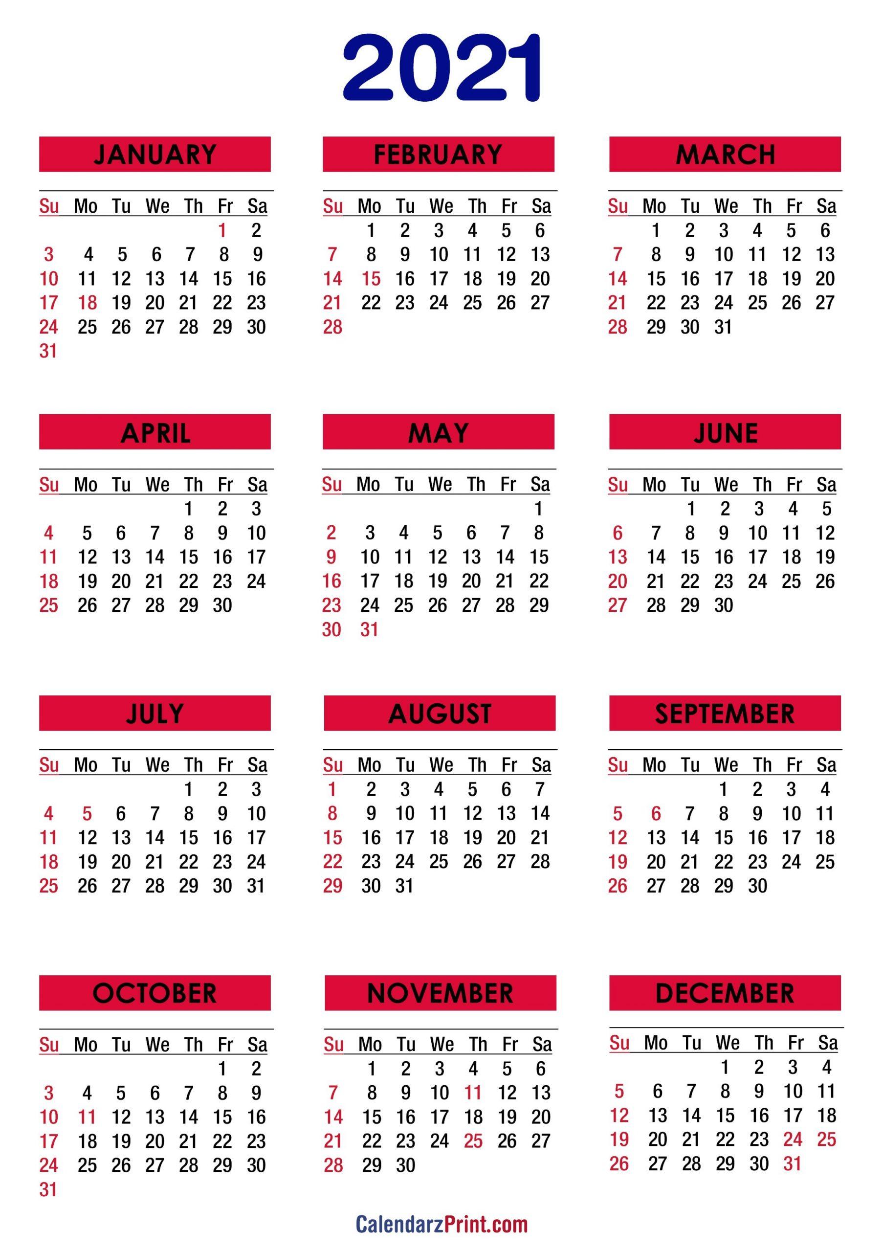 2021 Calendar Printable Free Pdf - 2021 Calendar Printable Free White Sunday Start Matildastory for Free Printable Calendarlabs 2021