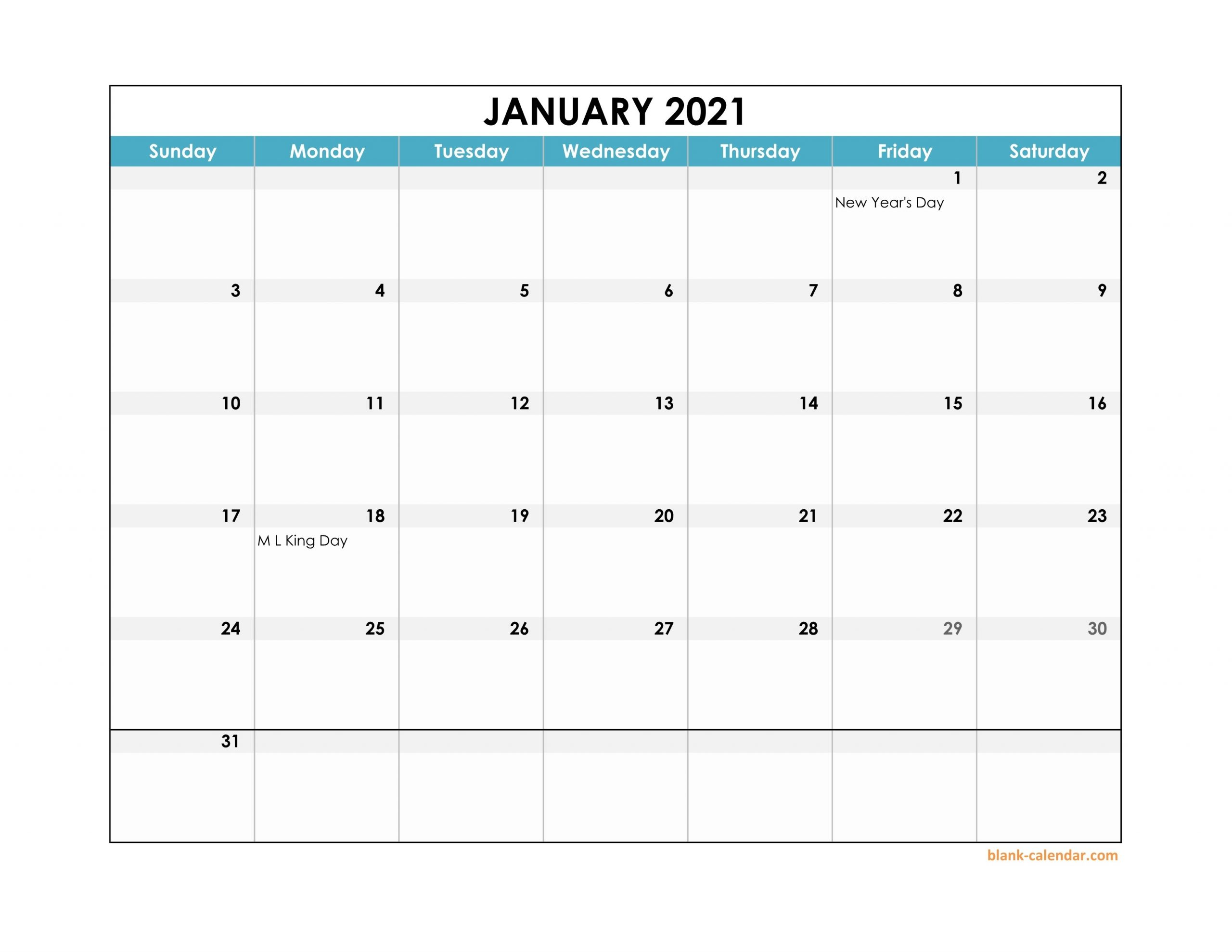 2021 Calendar Template Excel with Page By Page Large Wall Calendars 2021