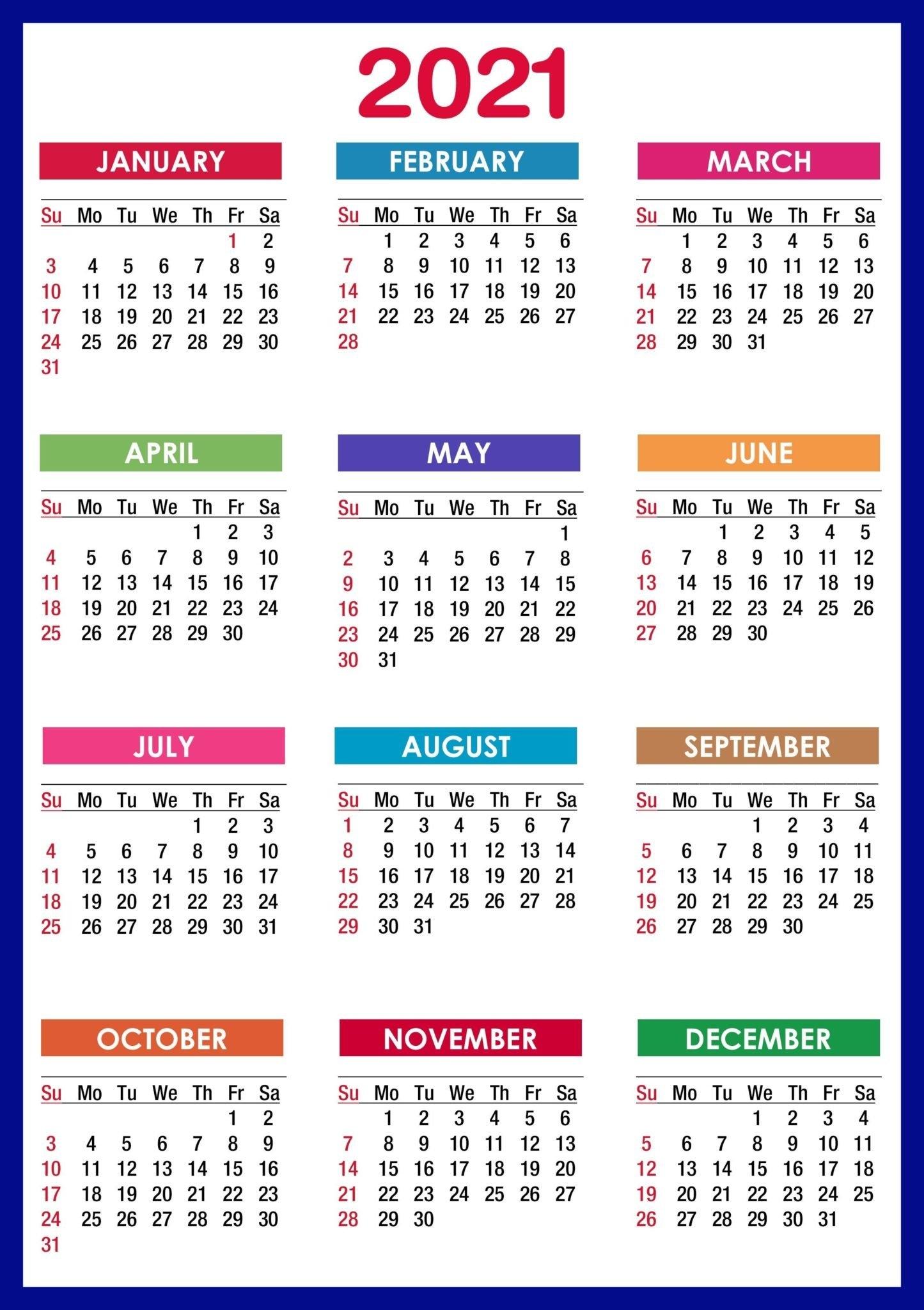 2021 Calendar With Holidays Usa, Uk, Canada, Australia within 2021 Calendar Template Excel Australia Photo