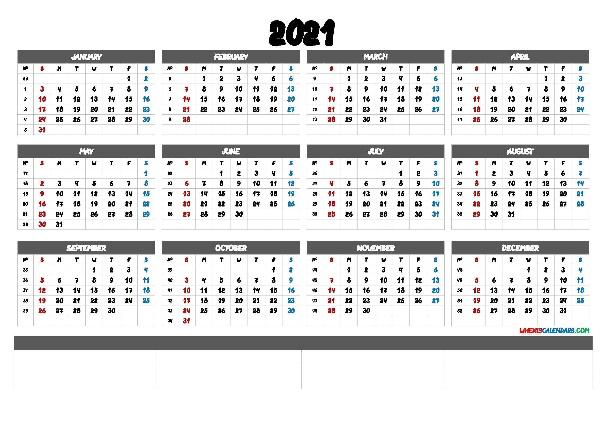 2021 Calendar With Week Number Printable Free : Calendar 2021, Week Starts On Monday Stock with regard to 2021 Printable Monthly Calendar Image