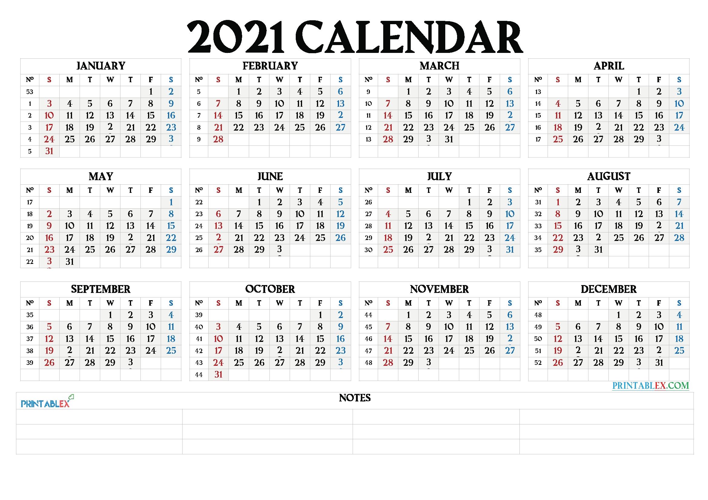 2021 Calendar With Week Number Printable Free / Free Printable 2020 Calendar With Holidays As inside Free Printable Planner Pdf 2021