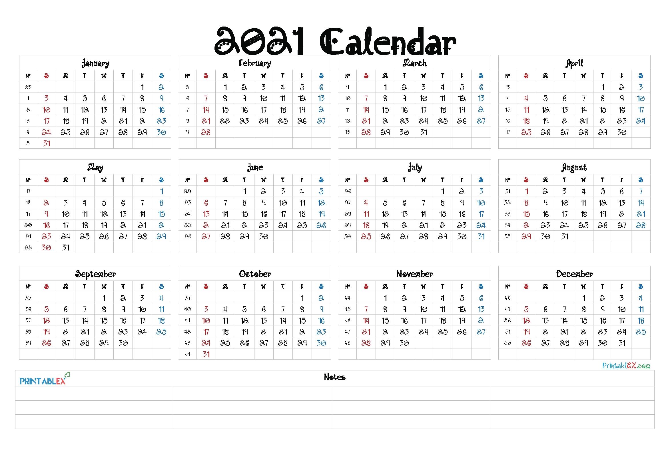 2021 Calendar With Week Number Printable Free / Pin On Calendar Printables / Practical within 2021 Weekly Calendars Printable Free