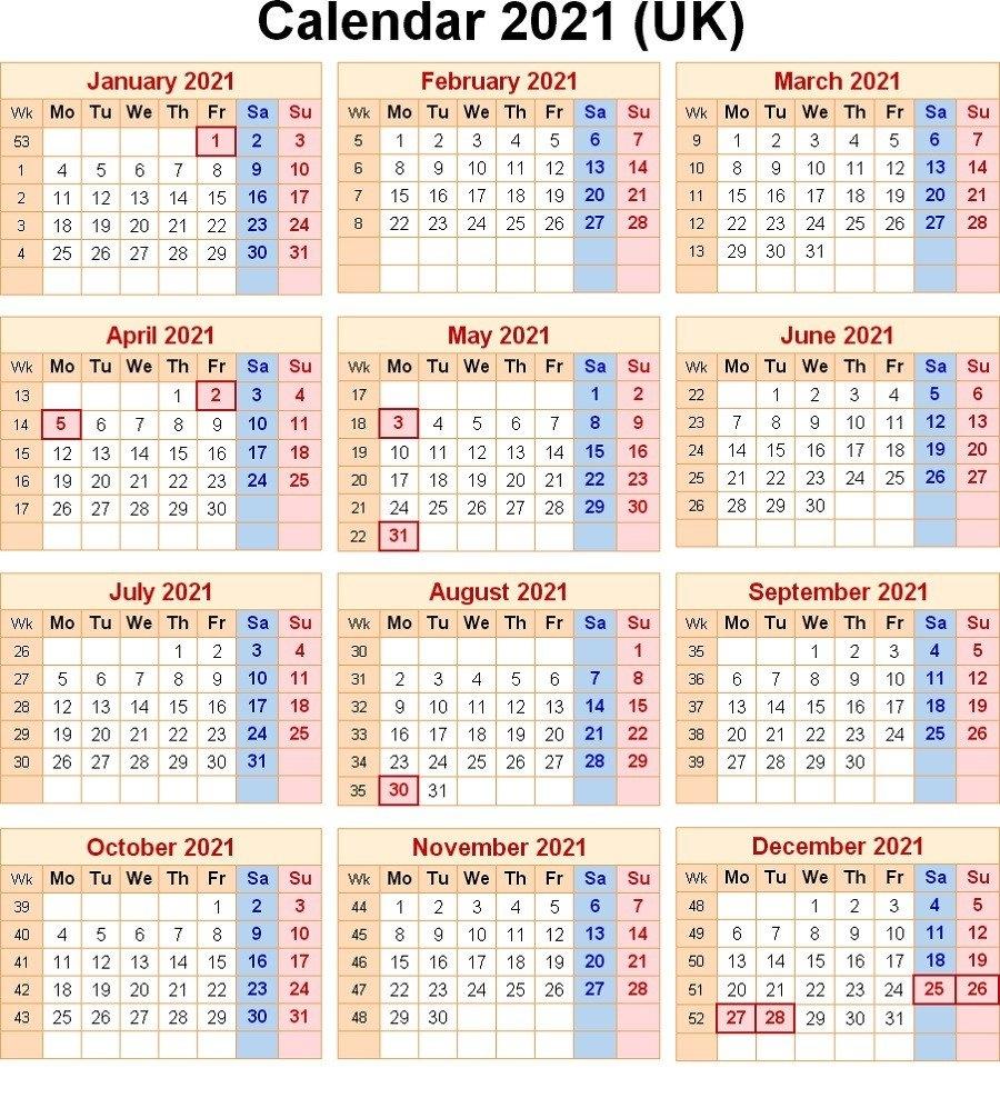 2021 Calendar With Week Numbers Excel Full | Free Printable Calendar Monthly throughout Printable Weekly Calendar 2021