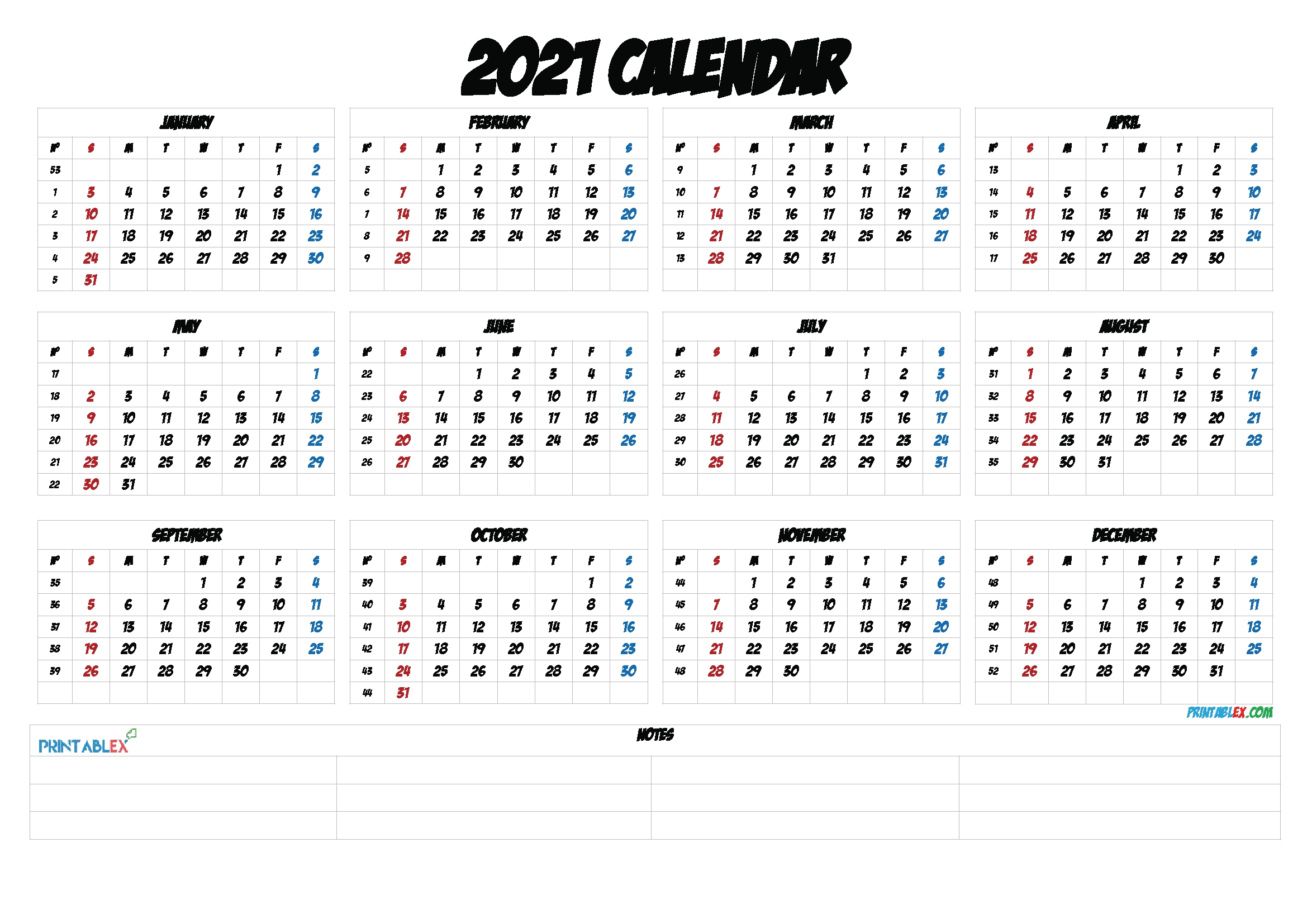 2021 Calendar With Week Numbers Printable with Calendar 2021 Brunei For Print Photo