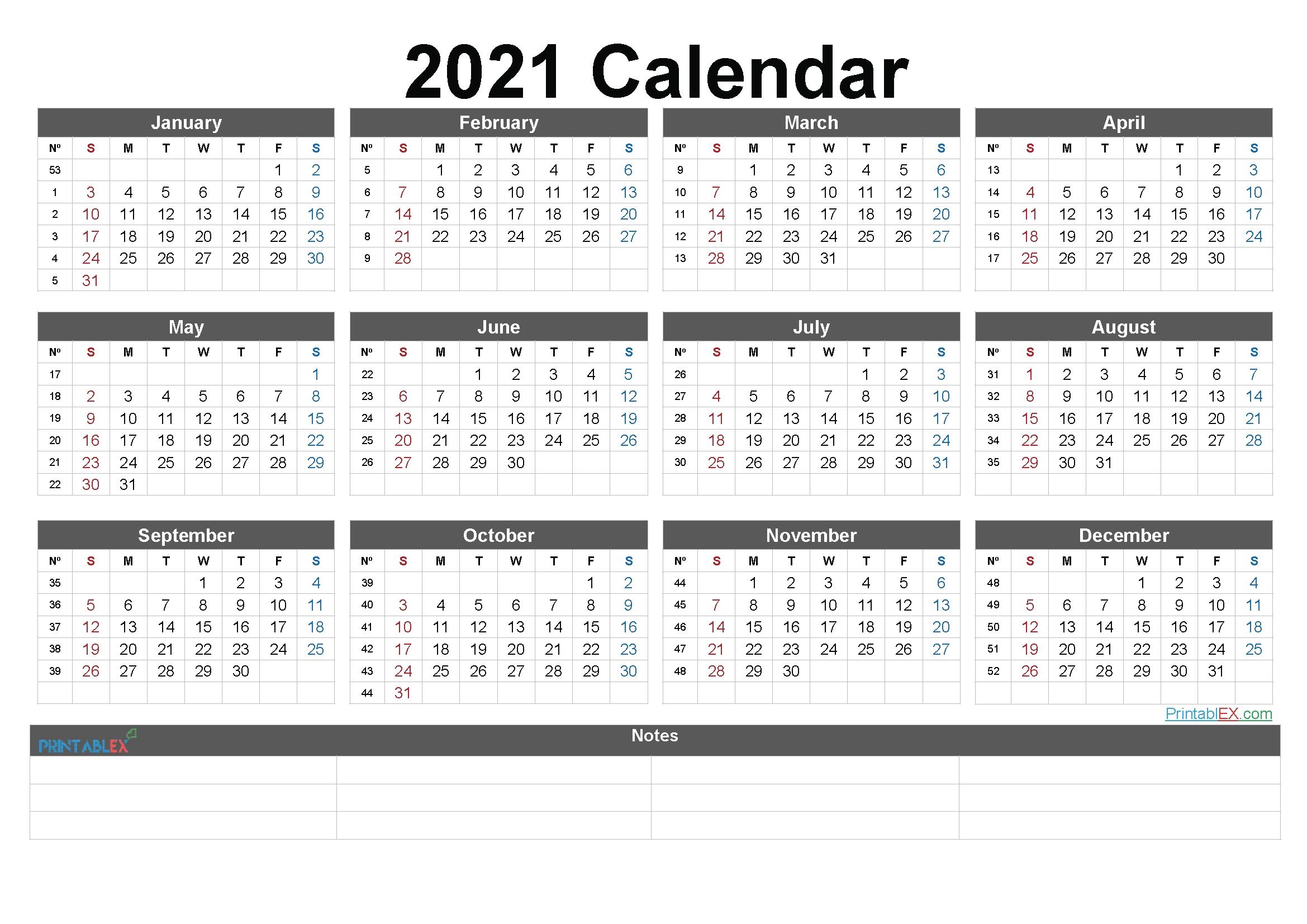 2021 Calendar With Week Numbers To Print | Free Printable Calendar in 2021 Julian Date Calendar Graphics