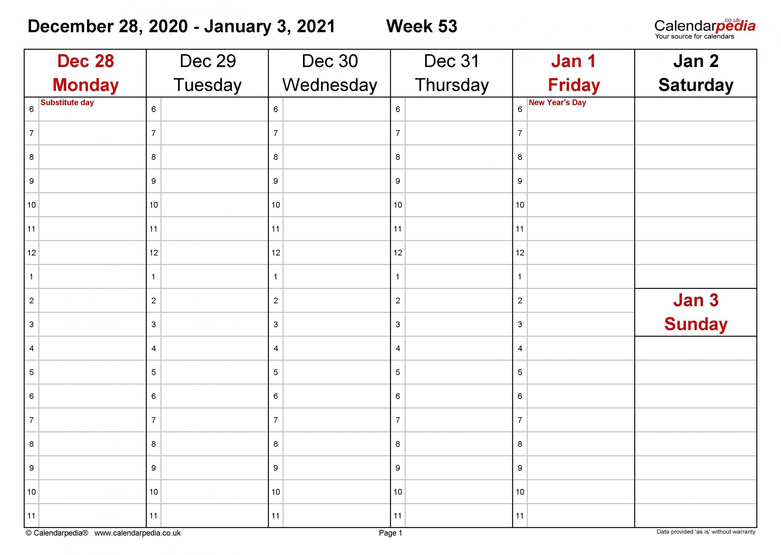 2021 Calnderweek No Excel | Calendar Template Printable inside Free 2021 Calendar Excel