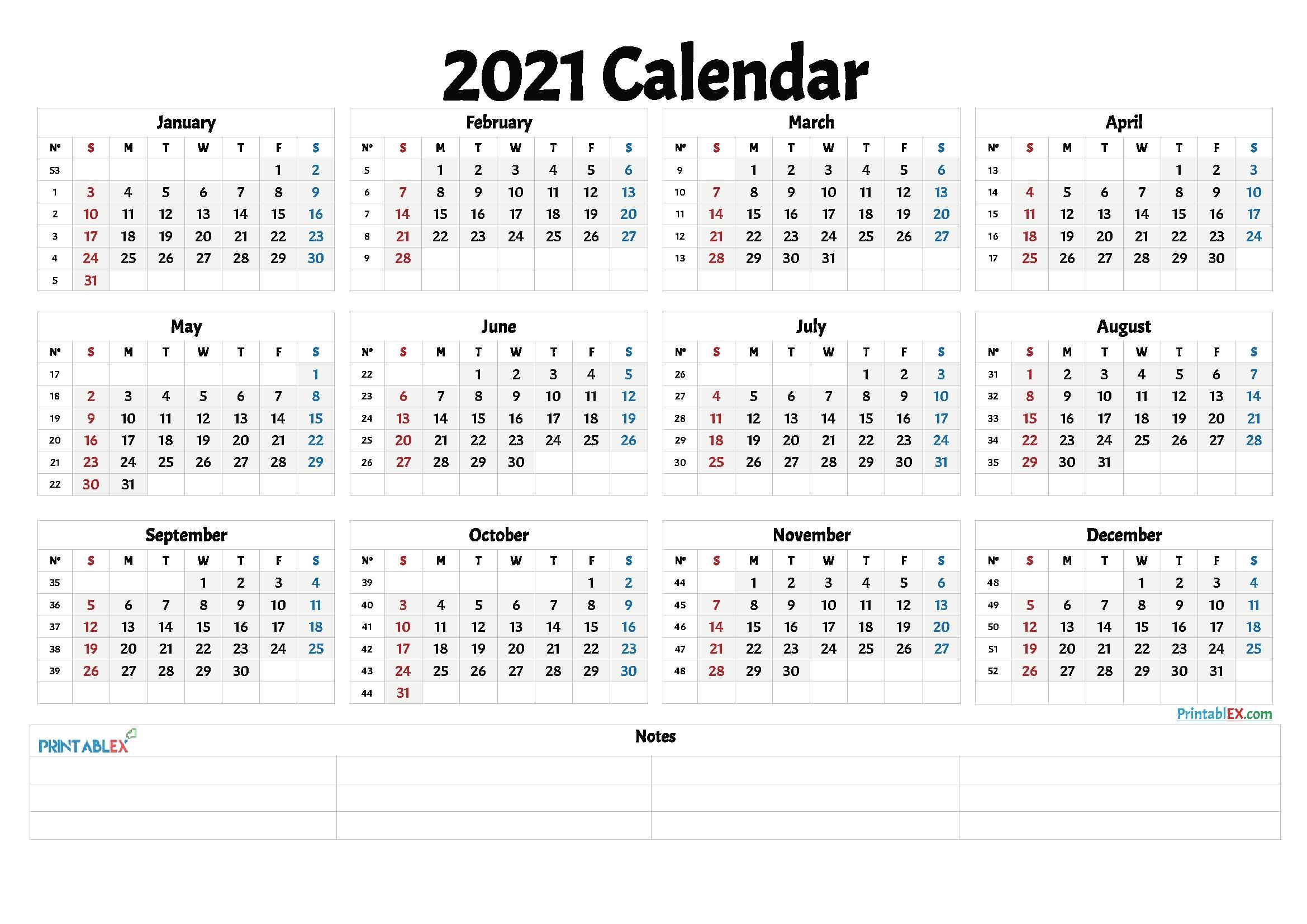2021 Calnderweek No Excel | Calendar Template Printable throughout 2021 Calendar Template Excel Australia