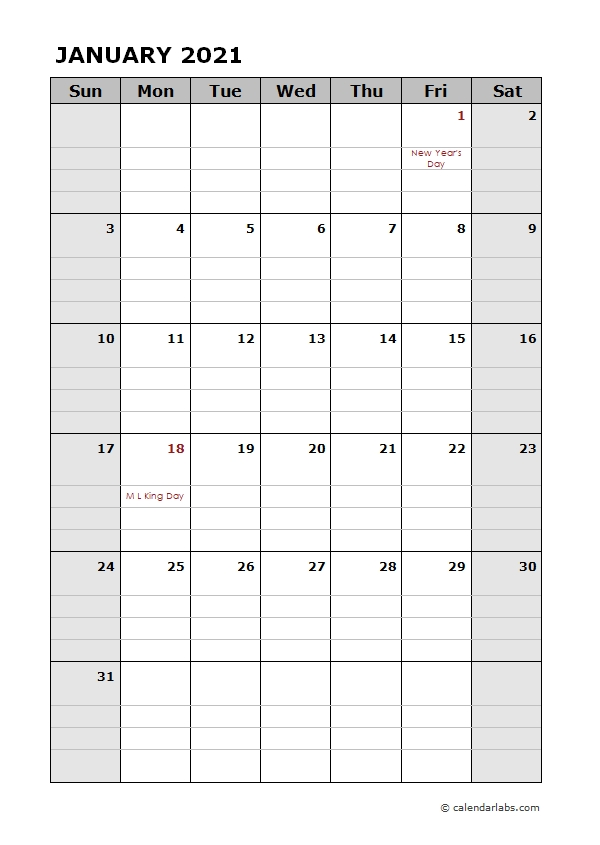2021 Daily Planner Calendar Template - Free Printable Templates with regard to Free Printable Calendar 2021 Daily