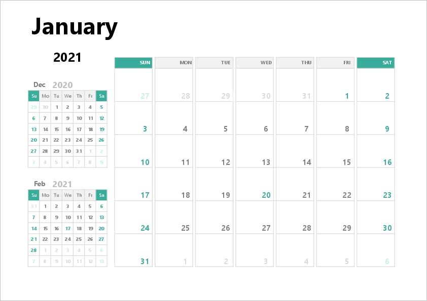 2021 Excel Calendar | Free Printable Templates regarding 2021 Excel Calendars Verticle