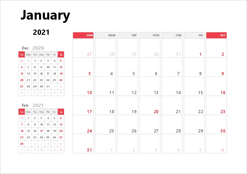 2021 Excel Calendar | Free Printable Templates with Calendar Template 2021 Indesign Image