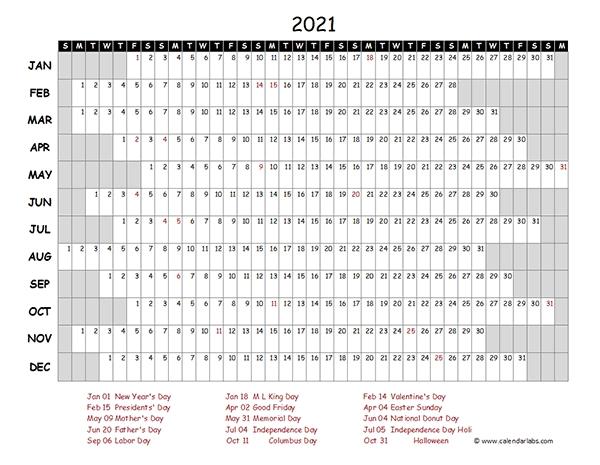 2021 Excel Calendar With Holidays - Calendar 2021 for 2021 Calendar Template Excel Australia