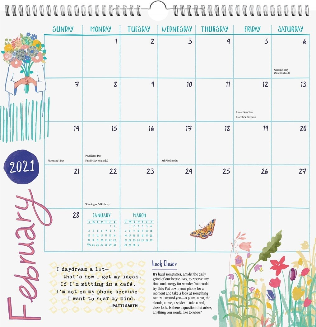 2021 Flow My Perfectly Imperfect Life Calendar | Angus & Robertson with 2021 Broadcast Calendar For Media