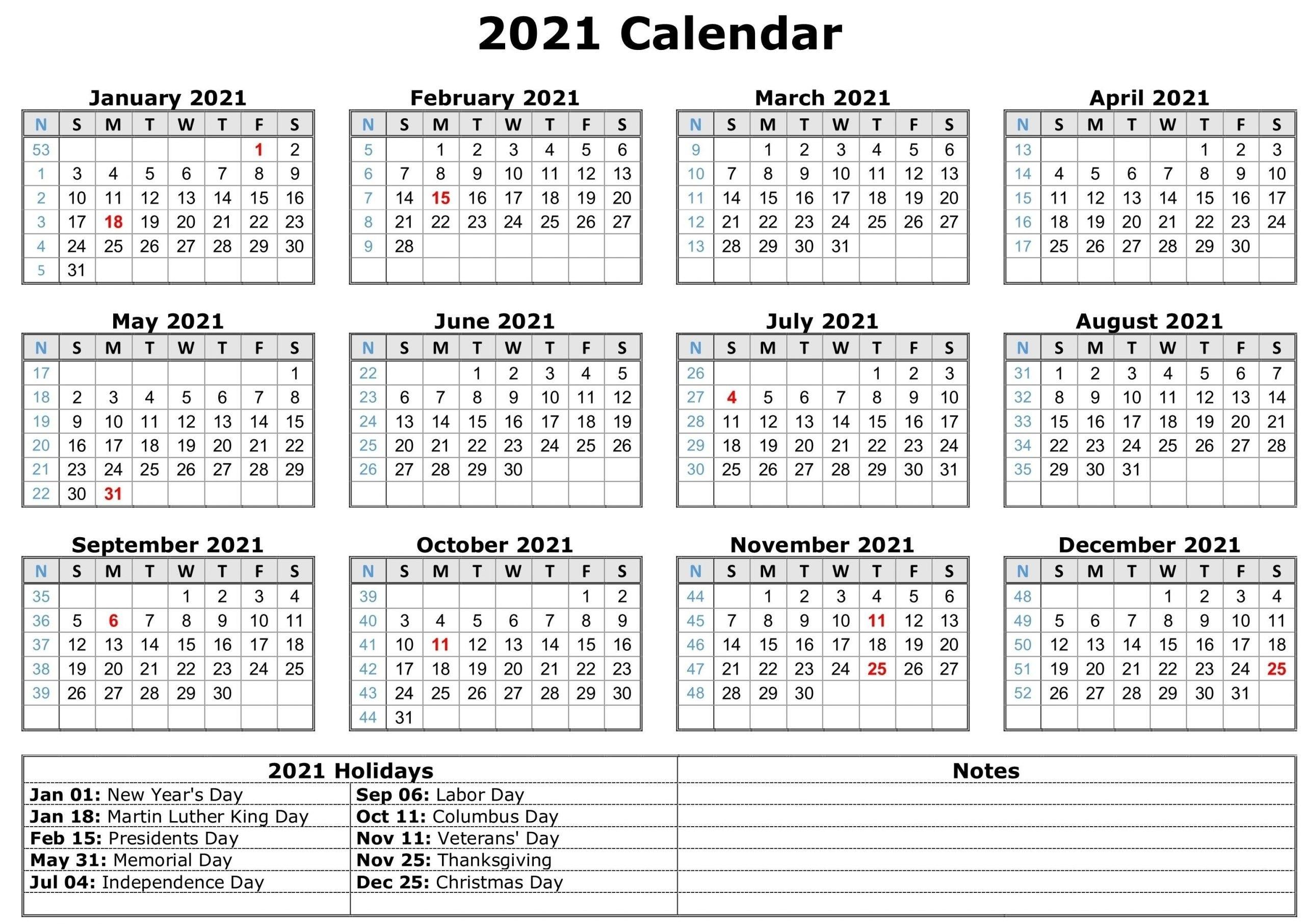 2021 Free Printable Calendar Pdf - Template Calendar Design for Free Printable Planner Pdf 2021