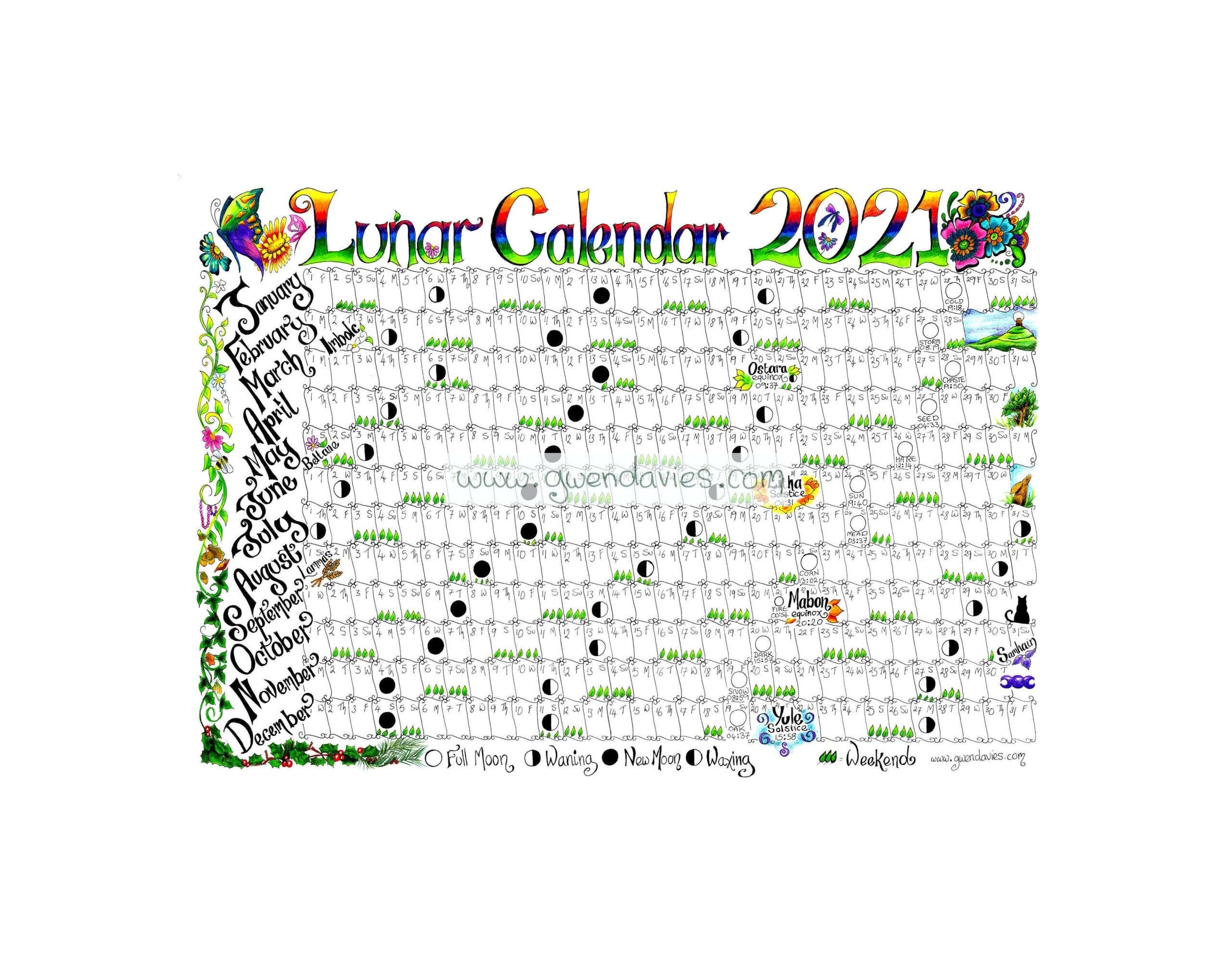 2021 Full Moon Calendar | 2021 Printable Calendars regarding Lunar Calendar 2021 Picture Healer