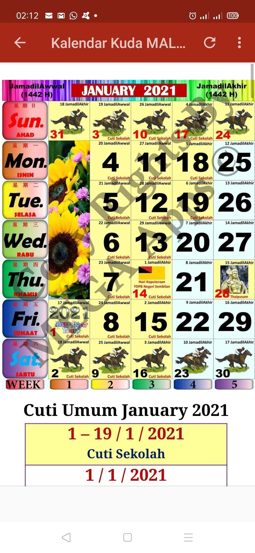 2021 Malaysia Calendar Download Kalendar Kuda 2021 Pdf within Cuti Umum Calendar Kuda 2021 Image