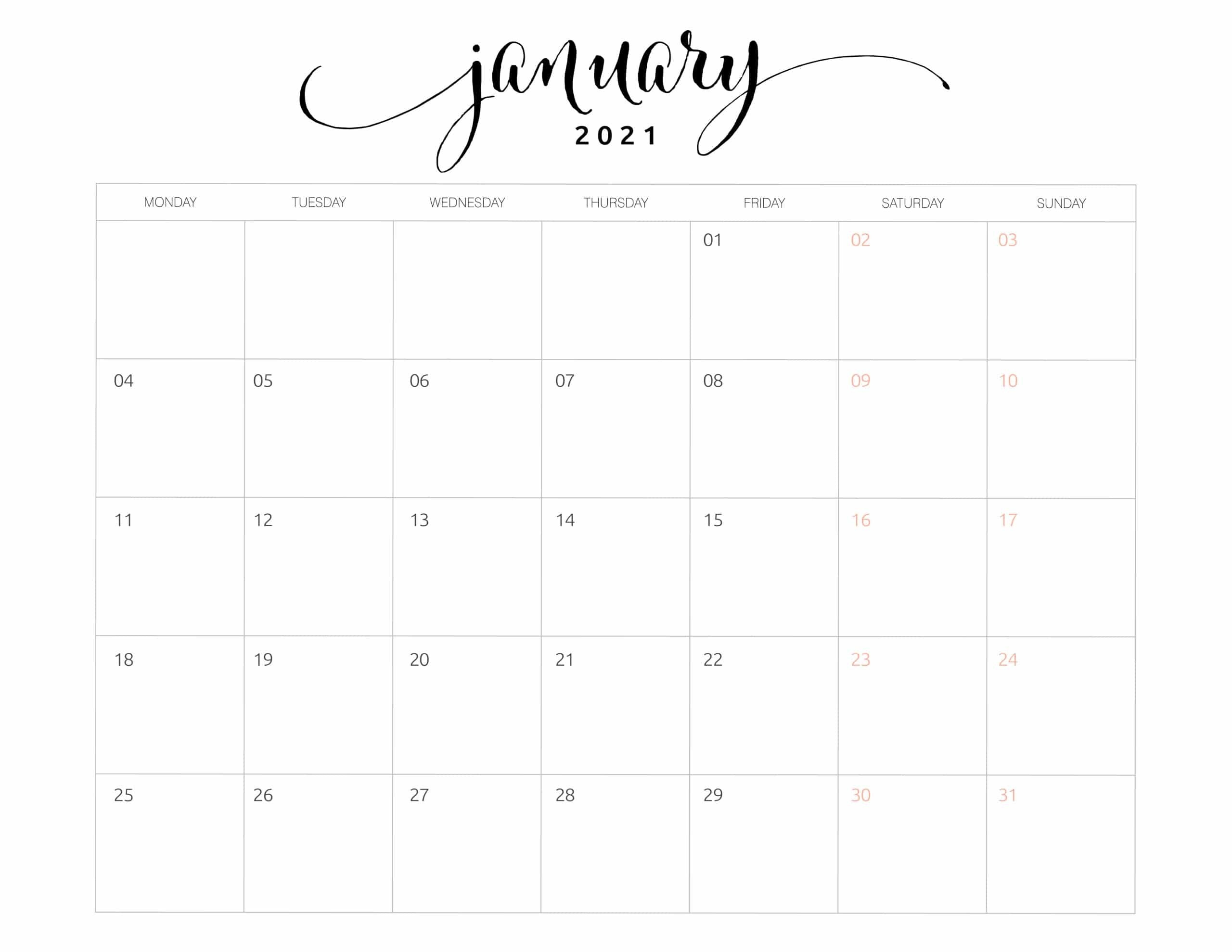 2021 Monthly Calendar Monday Start - World Of Printables within What Year Calendar Matches 2021 Graphics