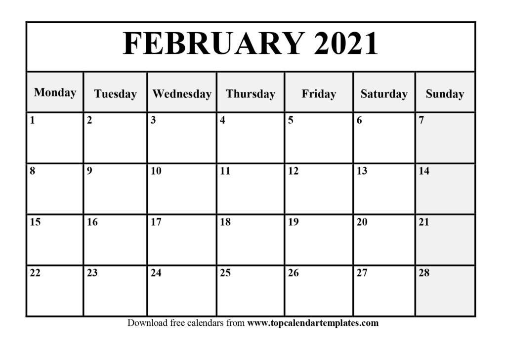 2021 Monthly Calendar Printable Word - Free Printable 8 Week Calendar | Ten Free Printable with Free Printable Planner Pdf 2021