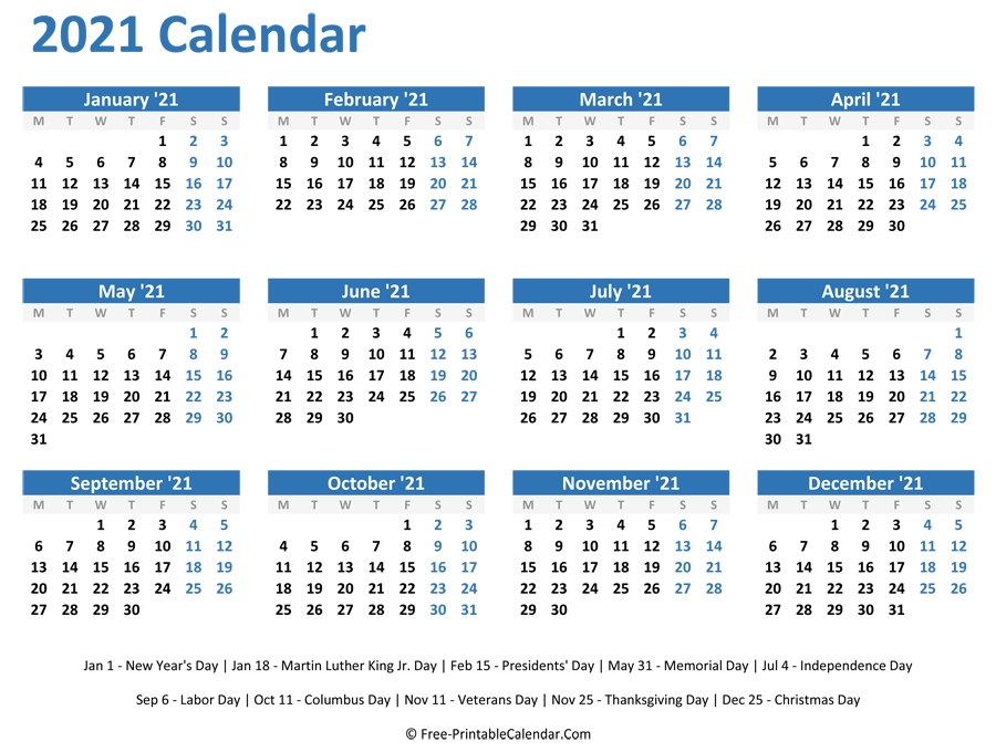 2021 Monthly Calendar Printable Word - Free Printable 8 Week Calendar   Ten Free Printable within 2021 Printable Monthly Calendar