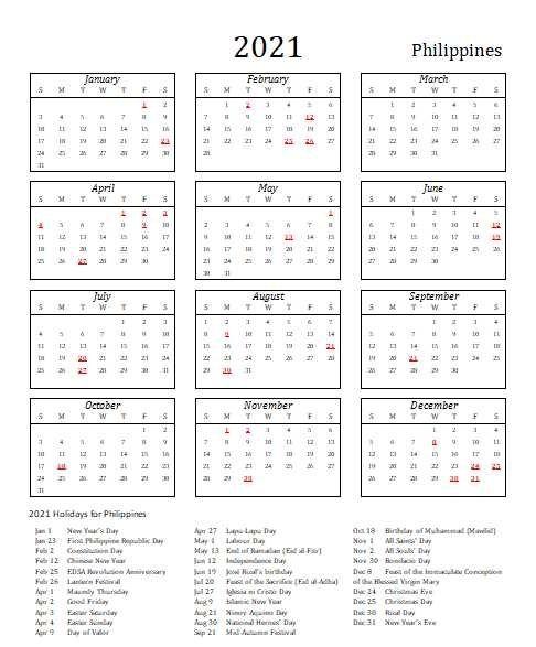 2021 Philippines Calendar With Holidays   Allcalendar with regard to Philippine Calendar 2021 With Holidays