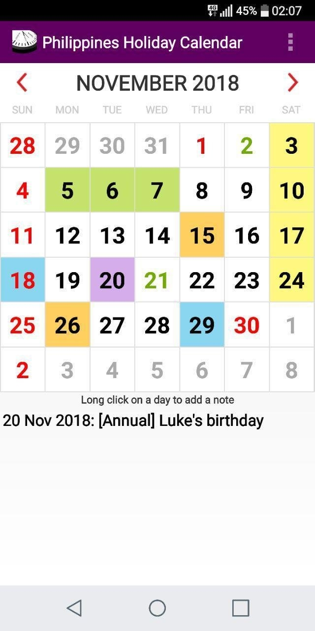 2021 Philippines National Holiday Calendar For Android - Apk Download inside Philippine Calendar 2021 With Holidays Image