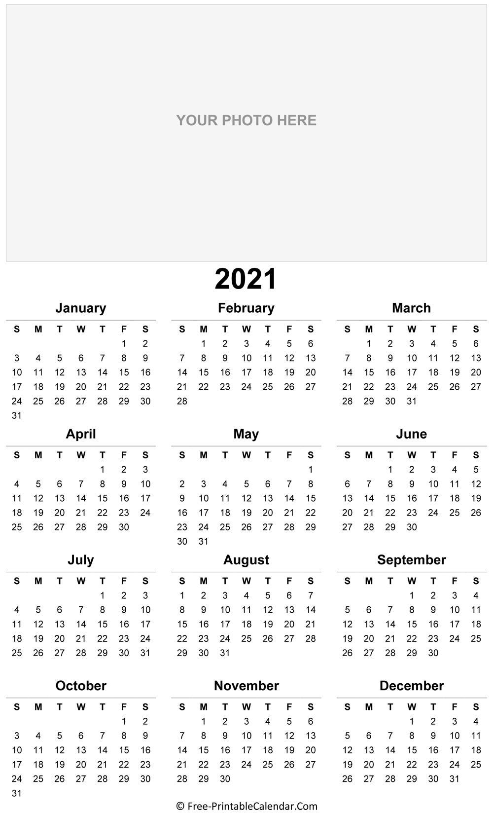2021 Photo Calendar Templates pertaining to Microsoft Photo Calender 2021 Graphics