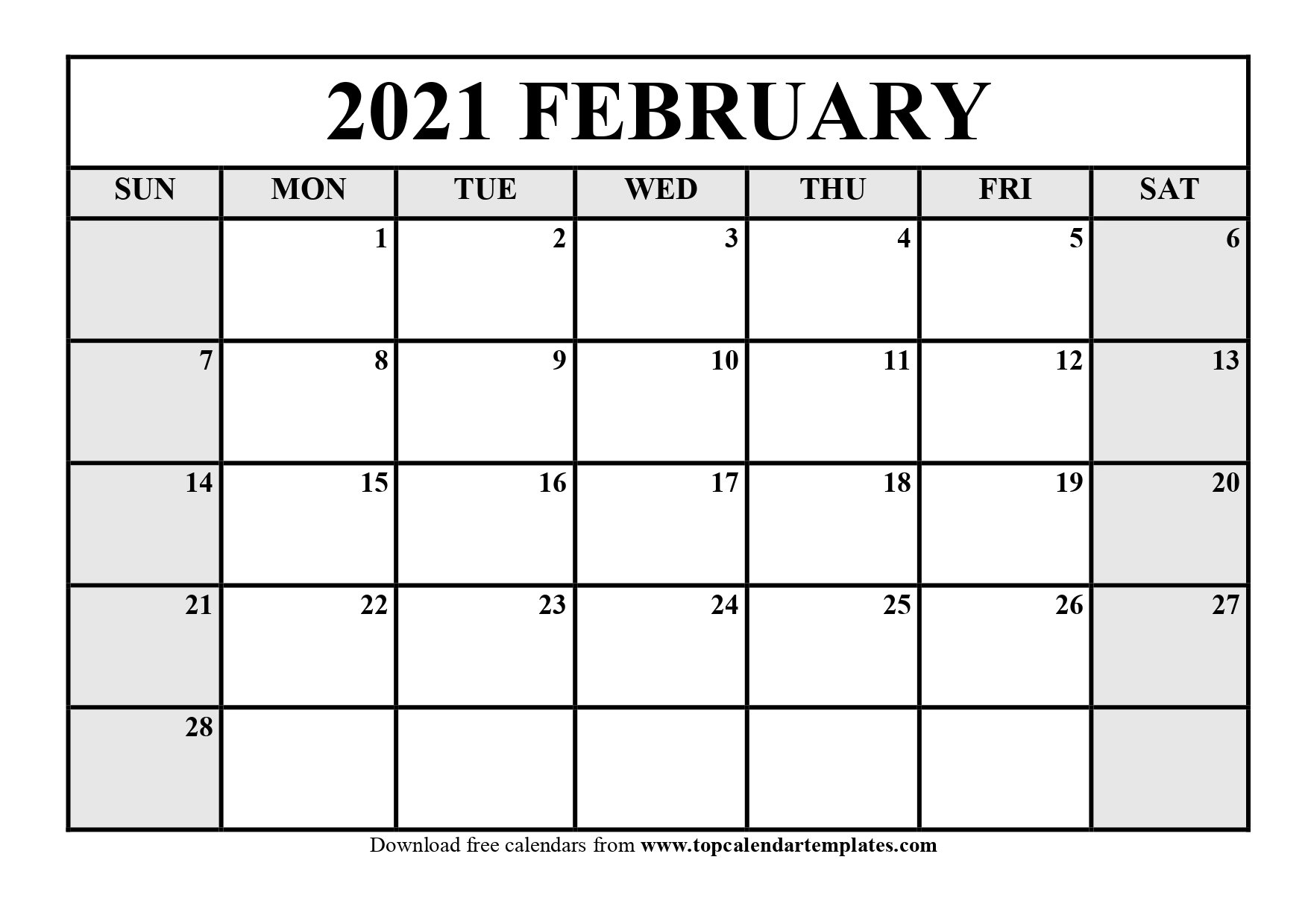 2021 Print Free Calendars Without Downloading | Calendar Printables Free Blank with regard to 2021 Free Printable Weekly Calendar Blank Image