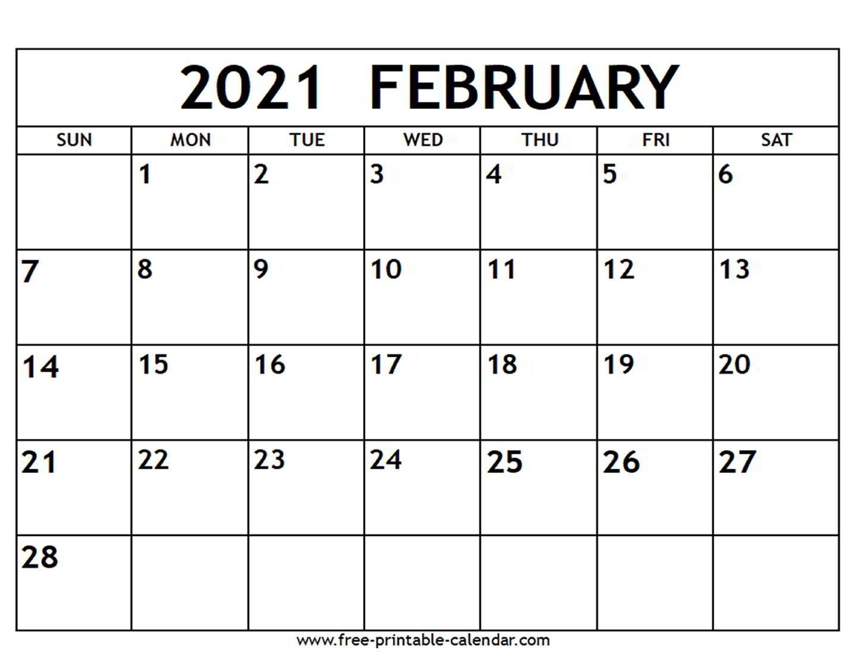 2021 Printable Calendar Free | Free Printable Calendar for Free Calendar Template 2021 Printable With Lines
