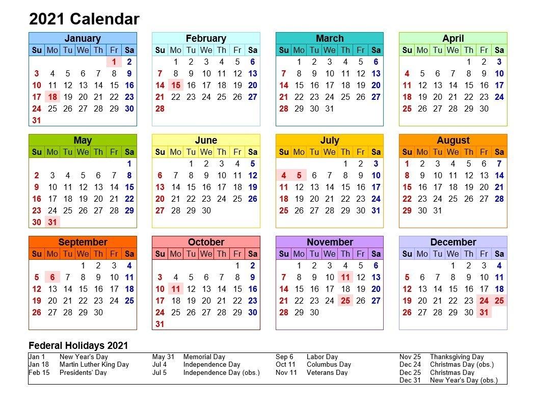 2021 Printable Calendar Landscape Format   2021Printablecalendar throughout Illustrator 2021 Calendar Template