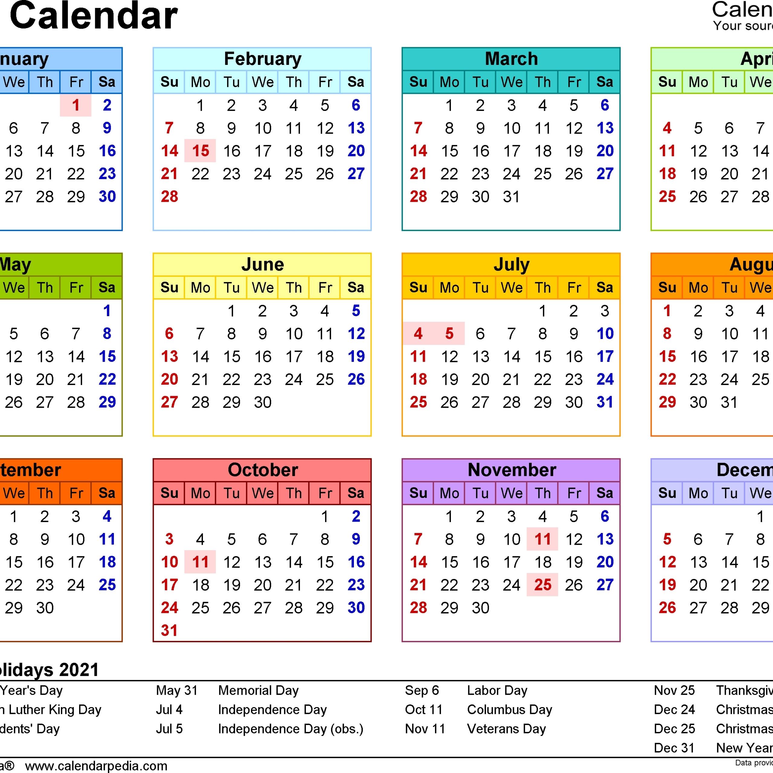 2021 Printable Calendar Malaysia   Free Printable Calendar for Calendar 2019 2021 2021 Printable Free Photo