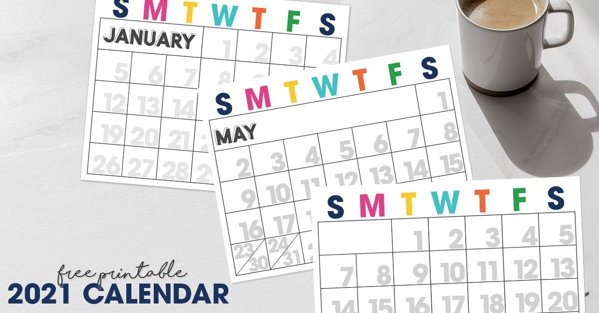 2021 Printable Calendar | Moritz Fine Designs inside Calendar 2021 Brunei For Print