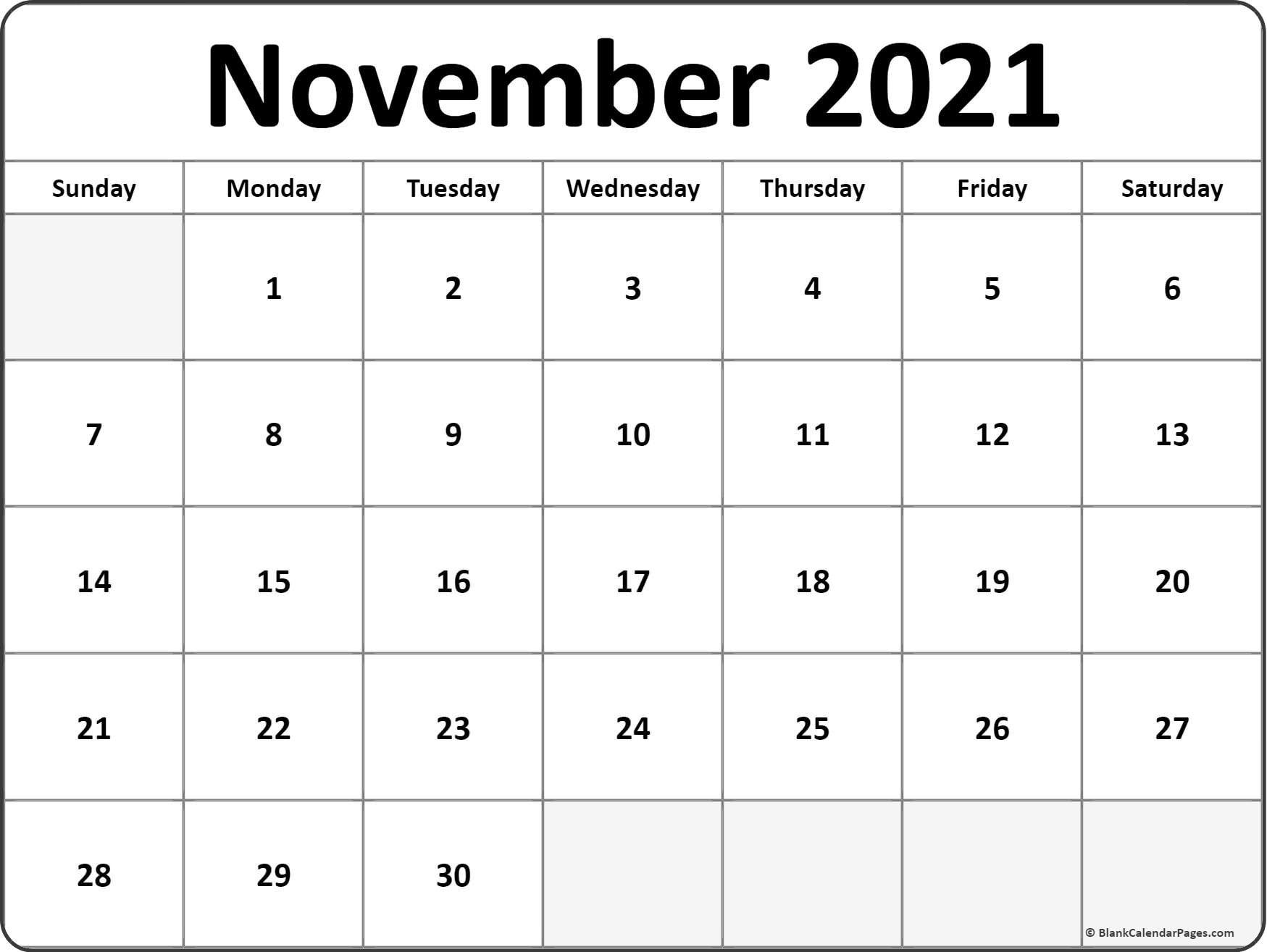 2021 Printable Monthly Calendar   Ten Free Printable Calendar 2020-2021 within Free Calendar Template 2021 Printable With Lines Image