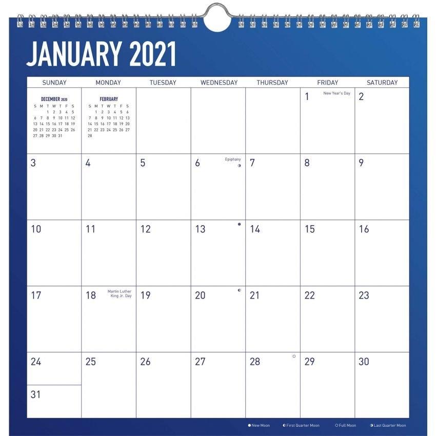 2021 Spiral Wall Calendars | Shop Trends Dateworks 12-Month Spiral Wall Calendars Are The with 2021 Broadcast Calendar For Media