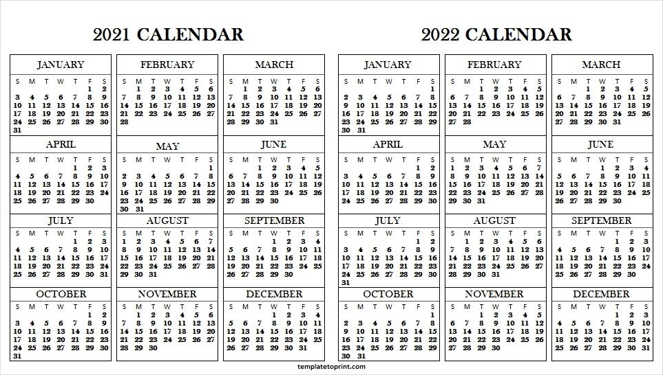 2021 To 2022 Planner Template - Print Blank Printable Calendar pertaining to Half Page Calendars 20212