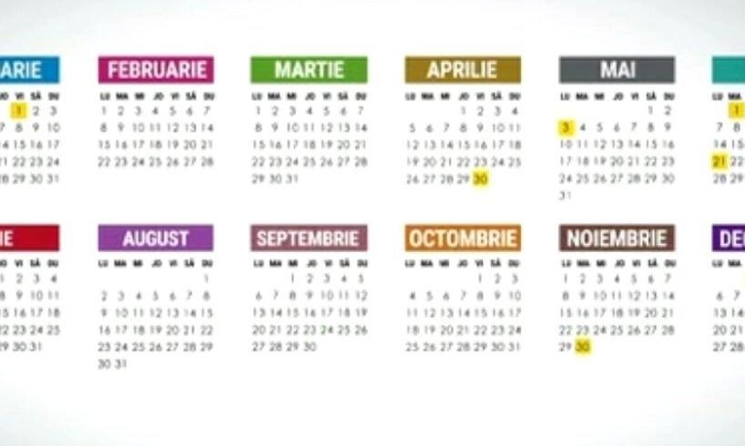 2021 Va Fi Unul Sărac În Zile Libere Pentru Români! — Info Mureș inside Calendar 2021 Ro Zile Libere
