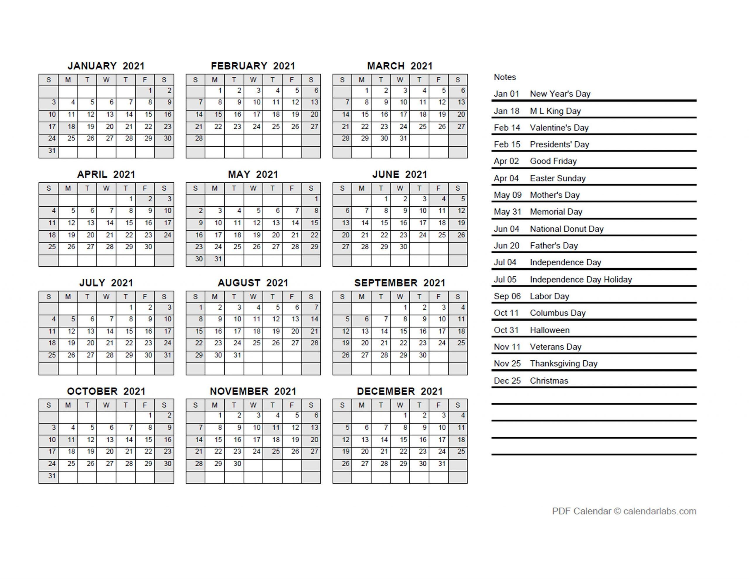 2021 Yearly Calendar Pdf - Free Printable Templates with regard to Julian Date Calendar 2021 Pdf Photo