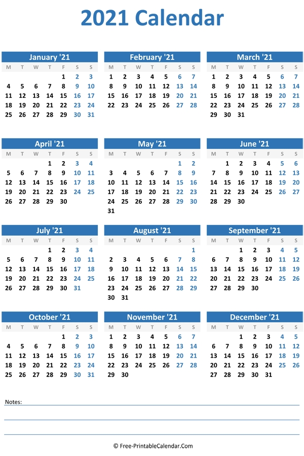 2021 Yearly Calendar pertaining to Yearly Calendars 2021 To 2025