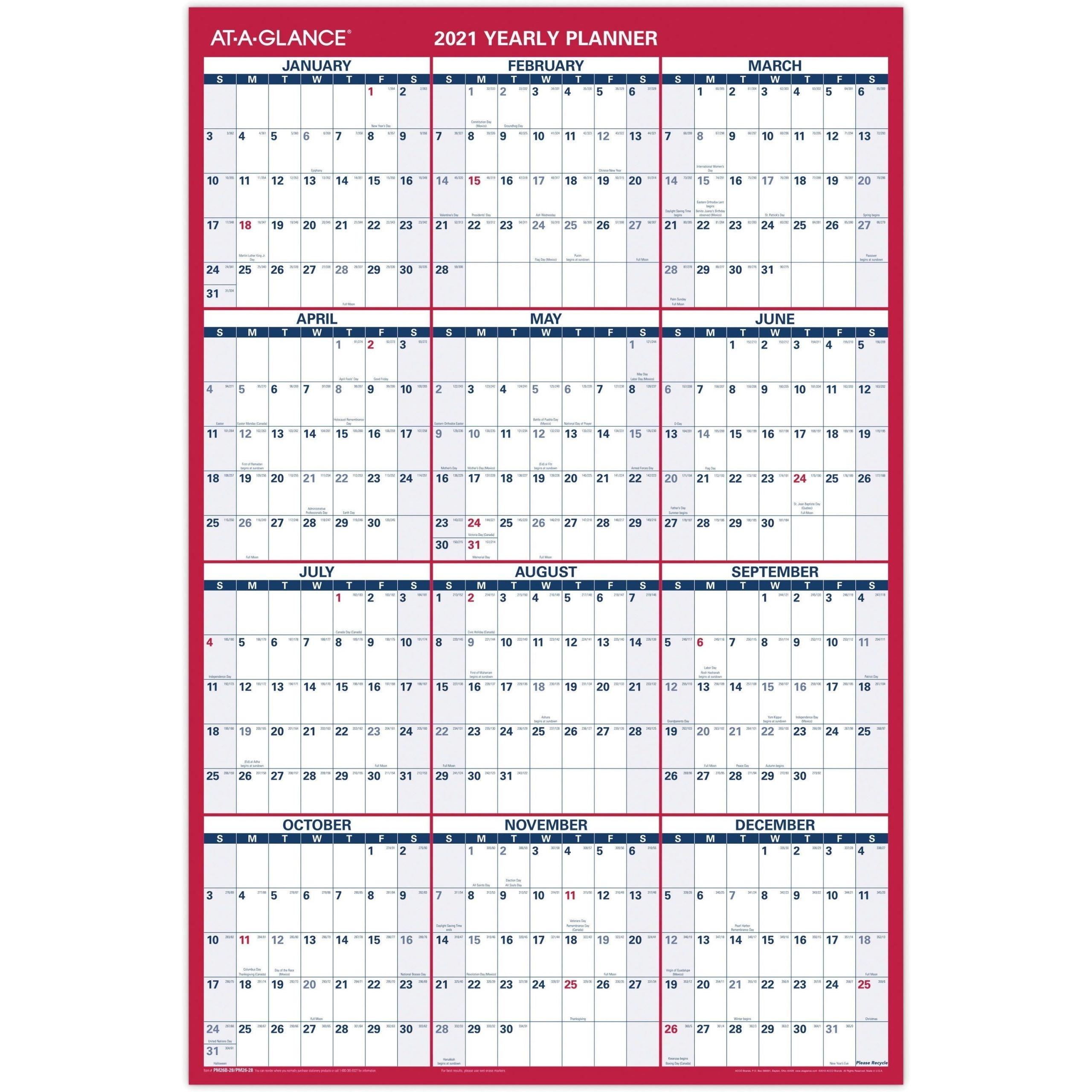 2021 Yearly Julian Calendar • Printable Blank Calendar Template for Julian Date Calendar For 2021