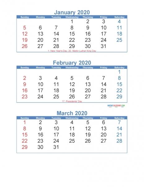 3 Month Printable Calendar Templates 2020 | Printable Calendar Template 2020 within 2021 28 Day Med Expiration Calendar