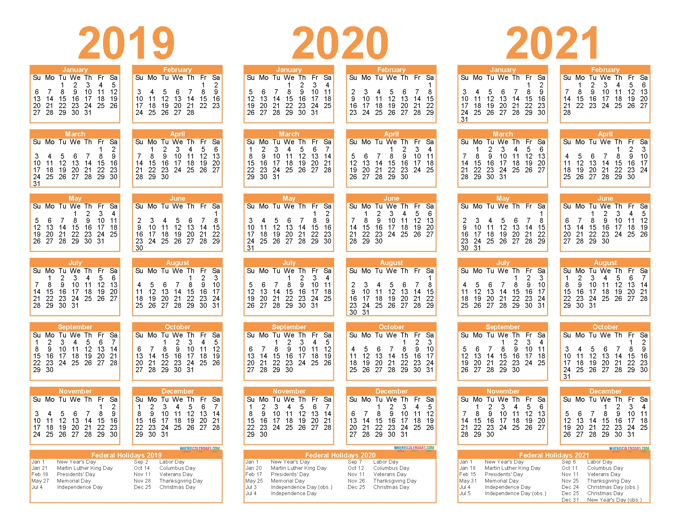 3 Year Calendar 2020 To 2021 Excel   Calendar For Planning within Three Year Calendar 2019 2021 2021 Calendar Pedia