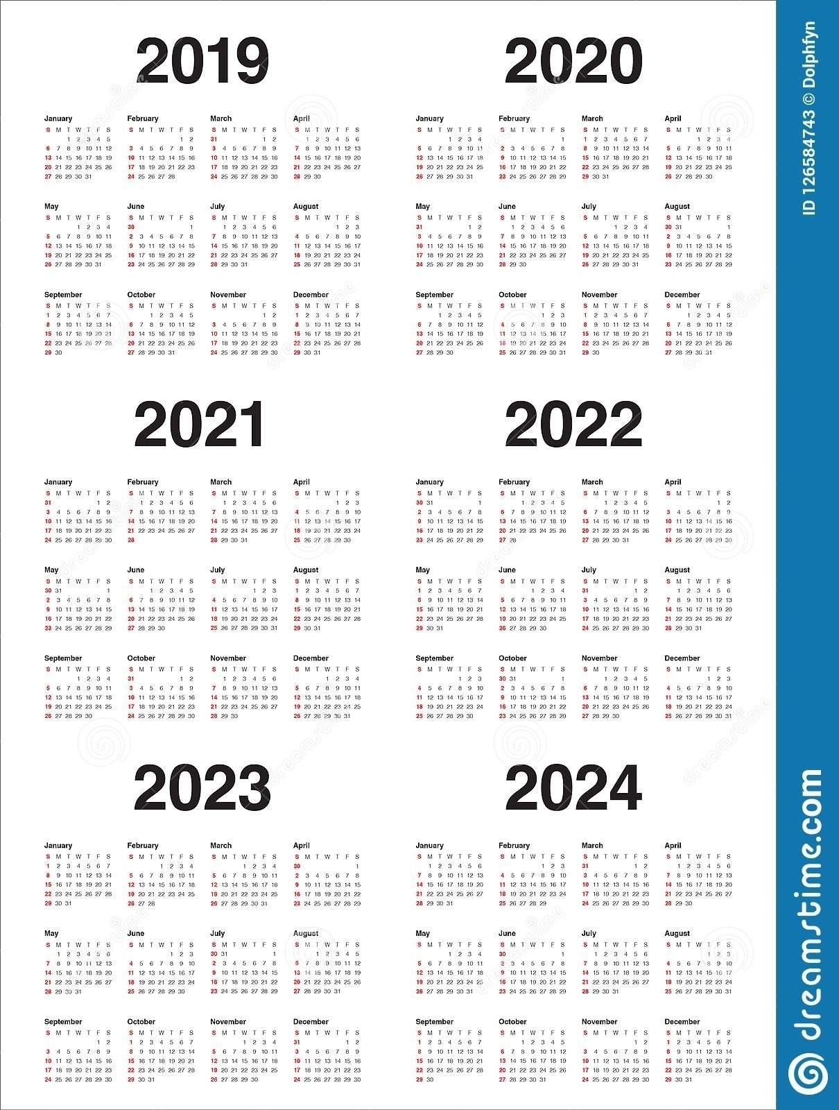 3 Year Calendar 2022 To 2024   Month Calendar Printable intended for Three Year Calendar 2019 2021 2021 Calendar Pedia Image