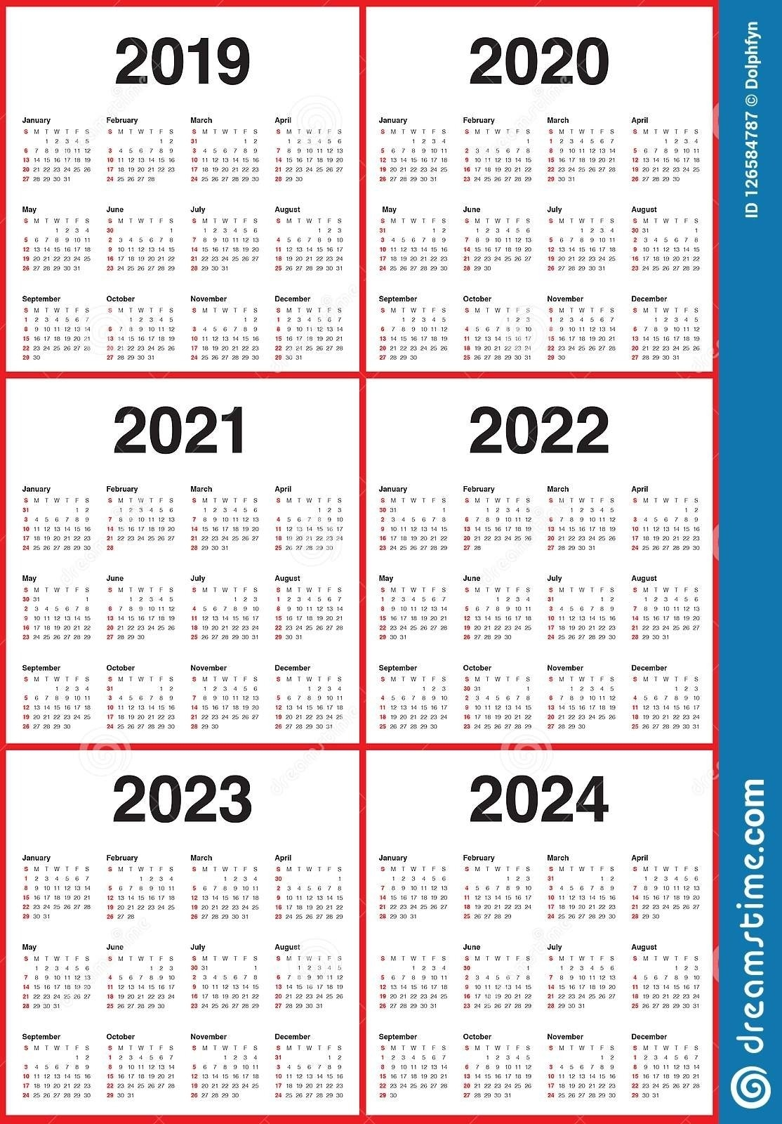 4 Year Calendar 2020 To 2023   Free Printable Calendar for 4 5 4 Calendar 2021