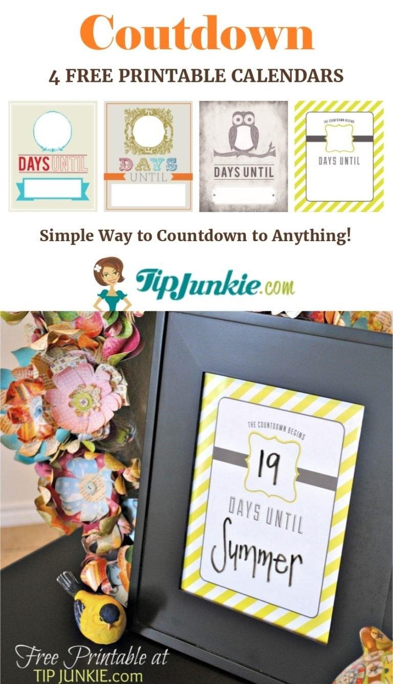 6 Must-Have Printable Calendars For June [Free!] - Tip Junkie regarding 6 Week Countdown Calendar Photo