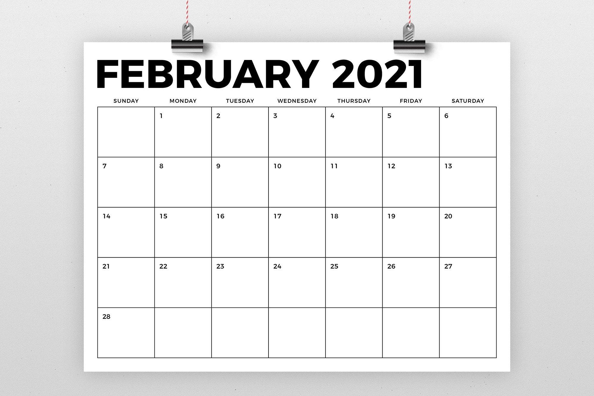 8.5 X 11 Inch Bold 2021 Calendar (438443)   Flyers   Design Bundles throughout 2021 Calendars With Lines