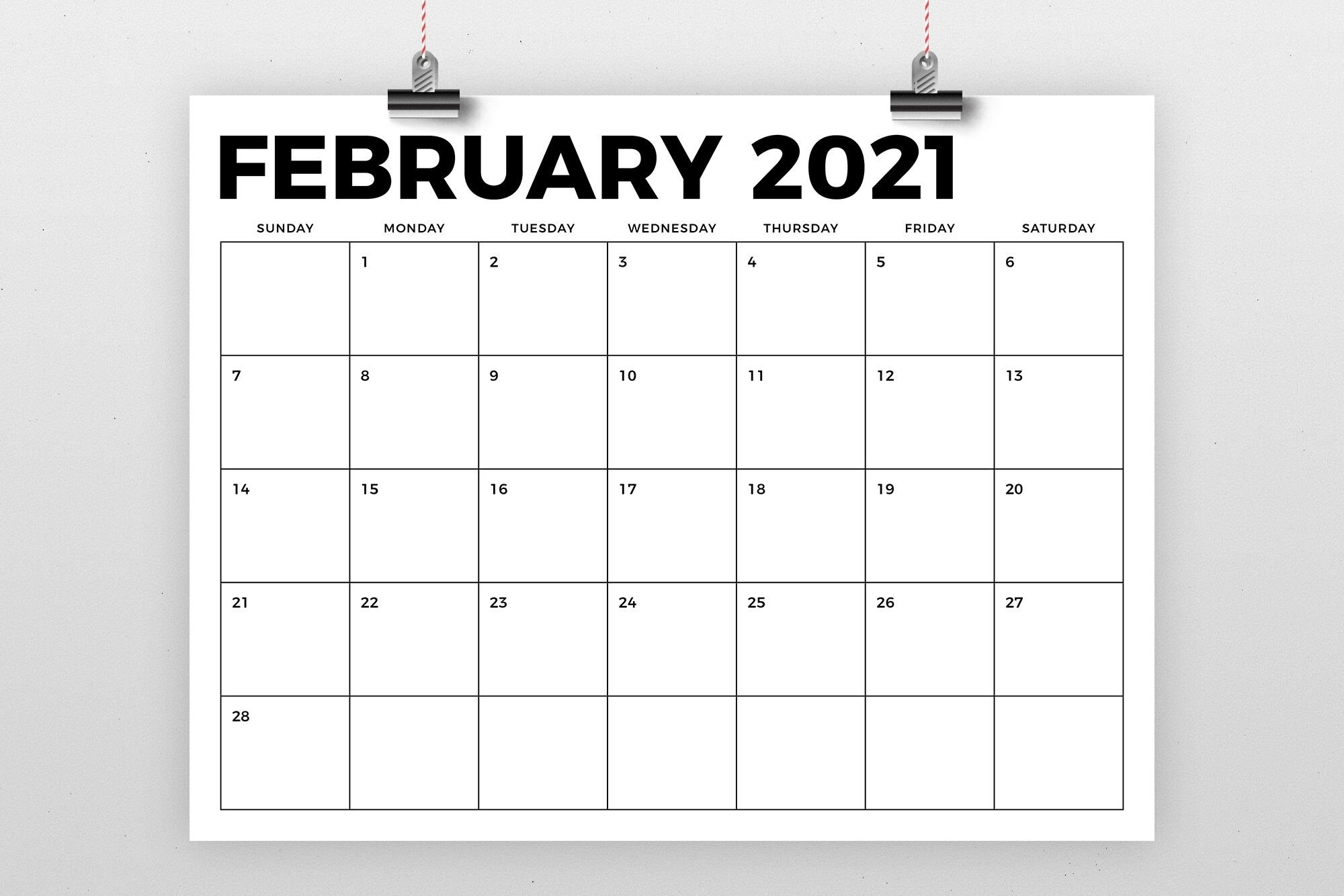8 X 11 Printable Calendar 2021 | Calendar Template 2021 for Free Printable Monthly Calendar 2021 With Lines Image