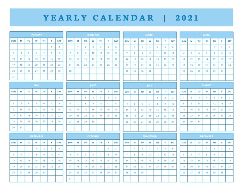 800+ Free Printable Calendar Templates And Examples   Lucidpress regarding 2021 Table Calendar Templates For Illustrator