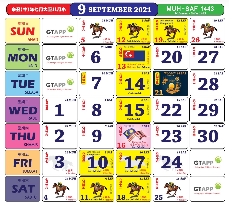 Anda Boleh Mula Dapatkan Kalender 'Kuda' Bagi Tahun 2021 in Cuti Umum Calendar Kuda 2021 Image