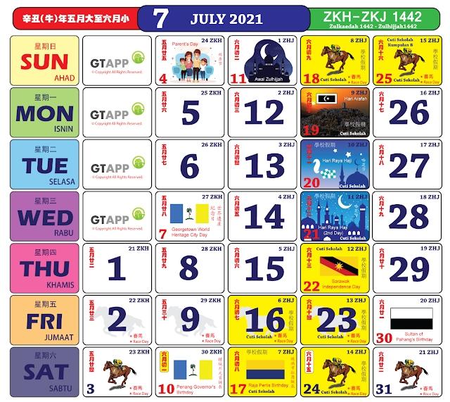 Anda Boleh Mula Dapatkan Kalender 'Kuda' Bagi Tahun 2021 pertaining to 2021 Kalender Cuti & Sekolah Image